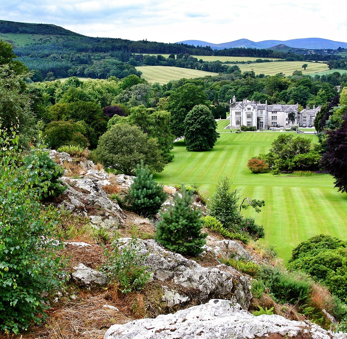 Looking back at Kilruddery House & Gardens, Bray, Co Wicklow