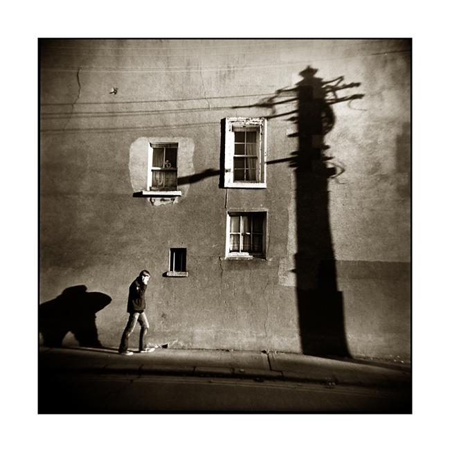 Dun Laoghaire Shadow Person Holga