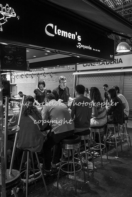 Dining in La Boqueria