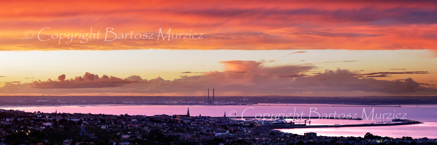 Dublin Bay sunset