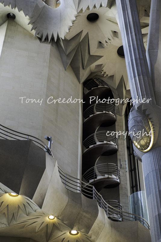 La Sagrada Familia, Spiral Staircase