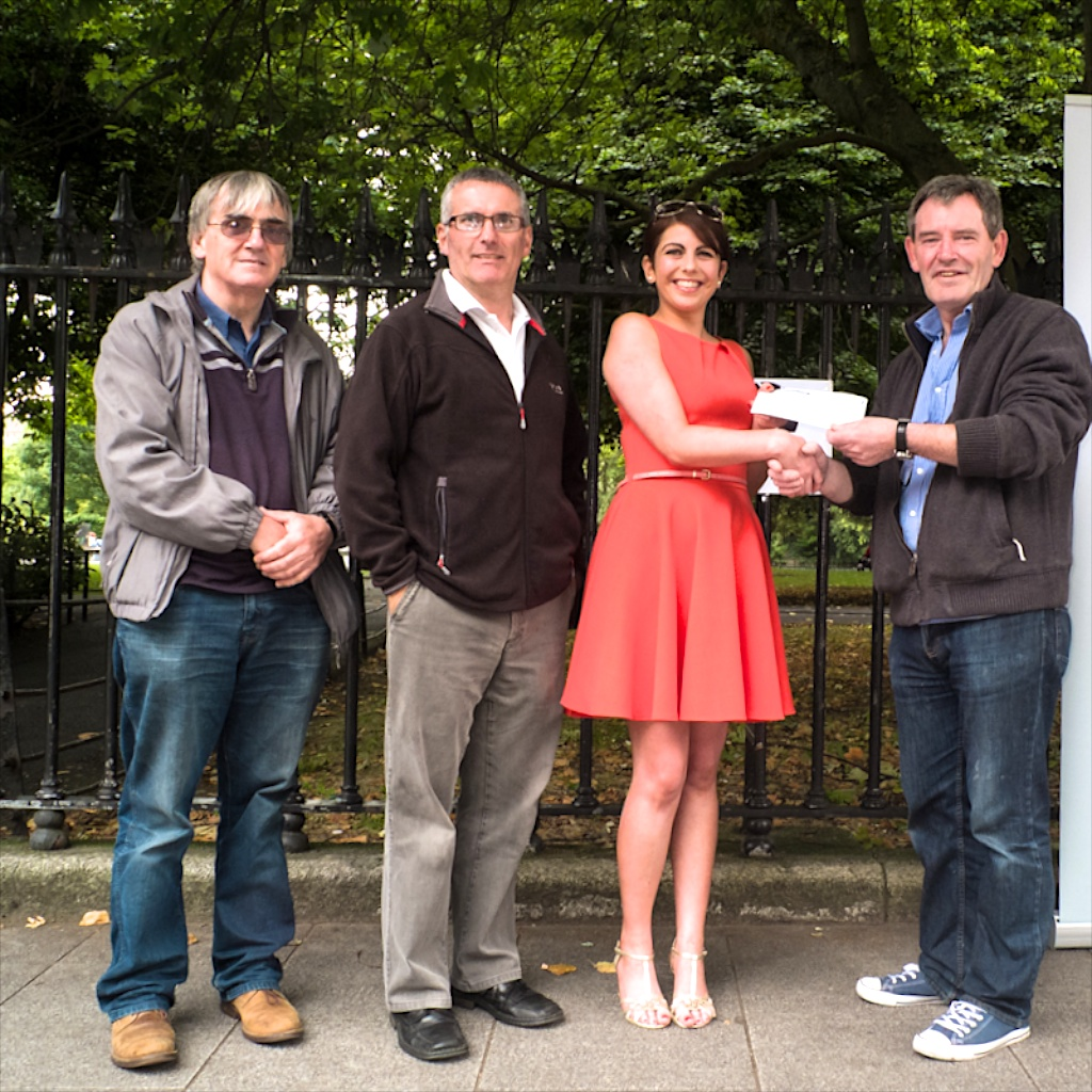 Presenting donation to Dublin Simon  2013